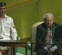 Holocaust Survivor and IJC Advisory Committee Member Noah Klieger Addresses the UN on Int'l Holocaust Remembrance Day