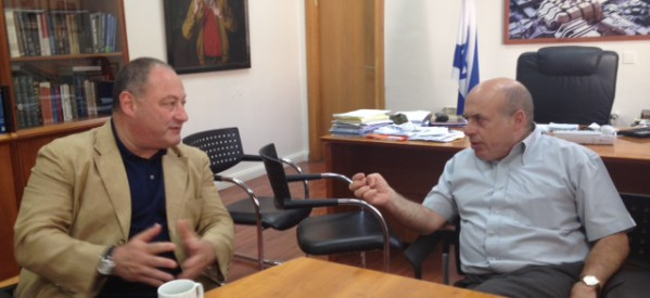 Vladimir Sloutsker, IJC President met with Mr. Nathan Sharansky, Chairman of the Jewish Agency for Israel.