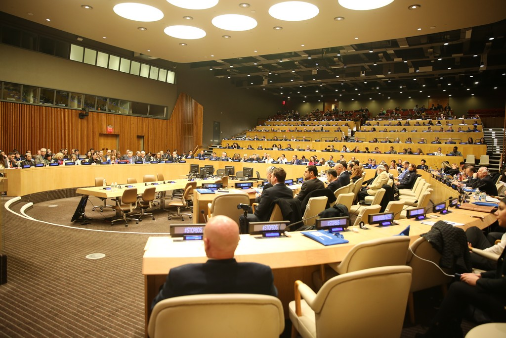 Arsen Ostrovsky speaking at United Nations (Photo by: Itzhak Roypman)